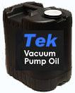 --Tek-SV synthetic vacuum pump fluid, 5 gallon