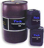 --Tek-SV synthetic vacuum pump fluid, 55 gallon